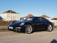 Porsche 911 991 Coupe schwarz 2011 Winter